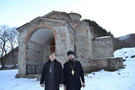 Игумен Герасим вместе с отцом Дмитрием