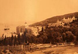 старинное фото Афонского монастыря