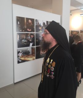 Игумен Герасим на фотовыставке